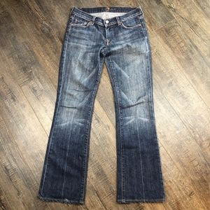7 For All Mankind Jeans Medium Wash Bootcut 28